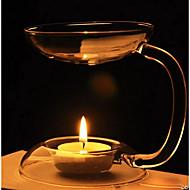 în stil european, lampă de aromaterapie cu un suport de lumânare din sticlă transparentă