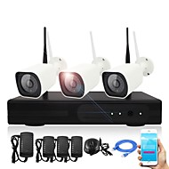 cheap NVR Kits-3Channel 1080P Wireless NVR Kits Waterproof IR Night Vision WIFI IP Camera Security System 3pcs 2.0MP Camera 6823P1120