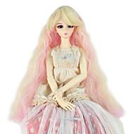 Naisten Synteettiset peruukit Suojuksettomat Pitkä Kinky Curly Kultainen vaalea Doll Wig Rooliasu peruukki
