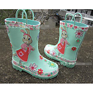 baratos Sapatos de Menina-Para Meninas sapatos Borracha Primavera Outono Botas de Chuva Botas Para Casual Café Verde Claro