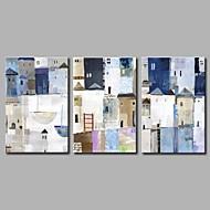Maalattu Abstrakti Taiteellinen Abstrakti Syntymäpäivä Tyylikäs Moderni/nykyaikainen Toimisto/työ Joulu Uusivuosi 3 paneeli Kanvas