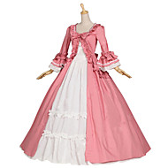 cheap -Princess Sweet Lolita Medieval Renaissance Costume Women's Dress Party Costume Masquerade Pink Vintage Cosplay Cotton Party Prom Long Sleeve Bell Sleeve Floor Length Long Length Ball Gown