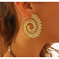 Dame Store øreringe - Erklæring Guld / Sølv Til Daglig