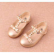 Para Meninas sapatos Courino Outono Inverno Conforto Mocassins e Slip-Ons Para Casual Dourado Prata
