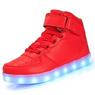 baratos Sapatos de Menino-Para Meninos Sapatos Materiais Customizados / Courino Outono / Inverno Conforto / Tênis com LED Tênis Cadarço / Velcro / LED para