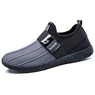 Masculino sapatos Tricô Primavera Outono Conforto Tênis Caminhada Para Casual Preto Cinzento