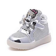 baratos Sapatos de Menina-Para Meninas sapatos Tule Inverno Outono Conforto Tênis para Casual Dourado Prata Fúcsia Rosa claro