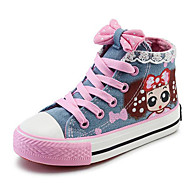 cheap Girls' Shoes-Girls' Shoes Canvas Spring Fall Comfort Sneakers for Casual Dark Blue Light Blue