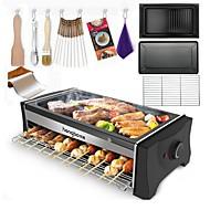preiswerte Küchengeräte-Elektrische Bratpfannen & Grill Multifunktion Edelstahl Elektrische Grills und Grills 220V 1300W Küchengerät