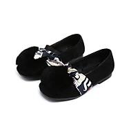 baratos Sapatos de Menina-Para Meninas Sapatos Flanelado Primavera Verão Conforto / Sapatos para Daminhas de Honra Rasos Laço para Marron / Vermelho / Verde