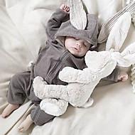 bebê Peça Única Cor Única Primavera/Outono Estações Cruzadas Algodão Manga Longa