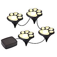 ywxlight® laba imprimare solară în aer liber lumini de gradina set paw imprimare solara gradina lumini cald alb / alb