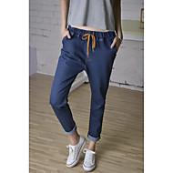 Žene Ležerne prilike Normalan struk Neelastično Harem hlače Traperice Hlače Jednobojni Proljeće Jesen