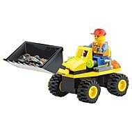 조립식 블럭 휠 굴착기 장난감 토공 기계장비 1 조각