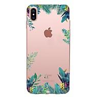 halpa -Etui Käyttötarkoitus Apple iPhone X iPhone 8 iPhone 8 Plus Läpinäkyvä Kuvio Takakuori Puu Pehmeä TPU varten iPhone X iPhone 8 Plus iPhone