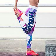 Dame Trykt mønster Legging - Trykt mønster, Farveblok