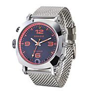 tanie Inteligentne zegarki-Inteligentny zegarek Wodoszczelny Wielofunkcyjne Obsługa aparatu Kompas Kontrola APP Dźwięk Długi czas czuwania Pilot Dwie strefy czasowe