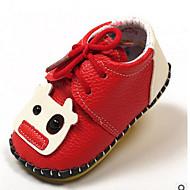 Baby Schoenen Synthetisch Microvezel PU Lente Herfst Eerste schoentjes Platte schoenen Voor Causaal Zwart Beige Bruin Rood