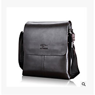 Men Bags PU Briefcase Zipper for Casual All Seasons Black