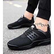 baratos Sapatos Masculinos-Homens Solas Claras TPU / Com Transparência Outono / Inverno Conforto Tênis Corrida Branco / Preto / Vermelho