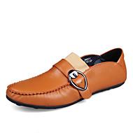 Bărbați Pantofi Piele reală Primăvară Toamnă Confortabili Mocasini & Balerini Cataramă Pentru Casual Party & Seară Alb Negru Maro Albastru