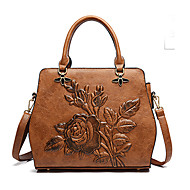 Women Bags PU Tote Zipper for Casual Office & Career All Seasons Red Brown Army Green