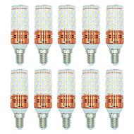 billige Kornpærer med LED-BRELONG® 10pcs 12W 1000lm E14 LED-kornpærer T 60 LED perler SMD 2835 Varm hvit Hvit Dual Light Source Color 220-240V