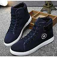 Men's Shoes Canvas Spring Fall Light Soles Sneakers For Casual Blue Black White