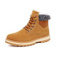 Masculino sapatos Tecido Outono Inverno Conforto Botas de Neve Forro de fluff Botas Cadarço Para Casual Preto Azul Khaki