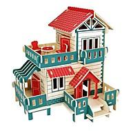 3Dパズル ジグソーパズル ウッド模型 モデル作成キット ハウス型 ファッション キャッスル・城 家 クラシック ファッション 新デザイン 子供 DIY ホット販売 ウッド 1pcs コンテンポラリー 子供用 ギフト