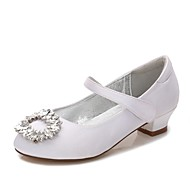 cheap Kids' Shoes-Girls' Shoes Satin Spring & Summer Flower Girl Shoes / Ankle Strap / Ballerina Heels Rhinestone / Sparkling Glitter / Buckle for Wedding