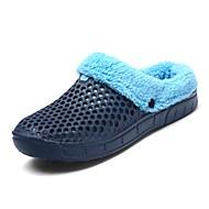 Herren Schuhe EVA Winter Komfort Flaum Futter Slippers & Flip-Flops Für Normal Schwarz Dunkelblau Grau