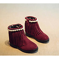 cheap Girls' Shoes-Girls' Shoes Suede Fall Winter Snow Boots Boots for Casual Black Brown Burgundy