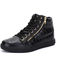 tanie Obuwie męskie-Męskie Buty Derma Skóra patentowa Zima Jesień Wulkanizowane buty Comfort Tenisówki Tasiemka Szurowane na Casual Na wolnym powietrzu White