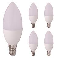 billige Stearinlyslamper med LED-3w led stearinlys t 6 leds smd 2835 varm hvit kald hvit 260lm 2800-3500; 5000-6500k ac / dc 12v e14 / e12
