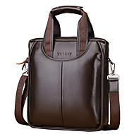 Men Bags PU Briefcase Zipper for Office & Career All Season Black Brown
