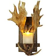 Vegglampe Nedlys 220V E14 Rustikk/ Hytte Land