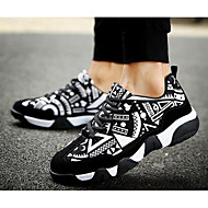 cheap Women's Sneakers-Women's Shoes Suede Spring Fall Comfort Sneakers for Casual Black/White Black/Red Orange/Black
