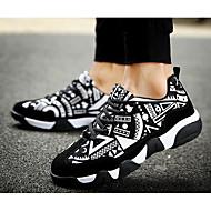 お買い得  特別セール-女性用 靴 スエード 春 秋 コンフォートシューズ スニーカー のために カジュアル ブラックとホワイト ブラック/レッド オレンジ & ブラック