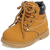 baratos Sapatos de Menino-Para Meninos Sapatos Courino Outono / Inverno Conforto / Botas de Neve / Botas da Moda Botas Cadarço para Preto / Amarelo / Marron
