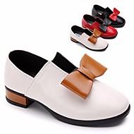 女の子 靴 PUレザー 春 秋 フラワーガールシューズ ヒール リボン のために カジュアル ホワイト ブラック レッド