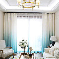 "cheap Curtains & Drapes-Blackout Blackout Curtains Drapes 2*(39W×106""L) Blue / Living Room"