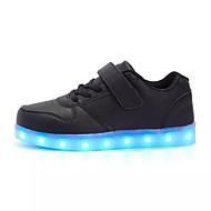 tanie Obuwie dziewczęce-Dla dziewczynek Obuwie PU Jesień / Zima Wygoda / Świecące buty Adidasy Sznurowane / LED na Zielony / Różowy / Królewski błękit