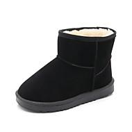 baratos Sapatos de Menina-Para Meninas Sapatos Couro Ecológico Inverno Conforto / Botas de Neve Botas Rendado / Ziper para Preto / Rosa claro / Castanho Escuro