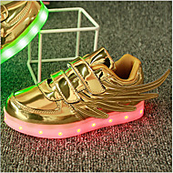 tanie Obuwie chłopięce-Dla chłopców Buty Materiał do wyboru Skóra patentowa Wiosna Lato Świecące buty Comfort Tenisówki LED Tasiemka Szurowane na Casual Na