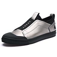 halpa -Miehet kengät Aitoa nahkaa Kevät Syksy Valopohjat Lenkkitossut varten Kausaliteetti Musta Harmaa