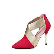 Mujer Zapatos Semicuero Verano / Otoño Confort / Innovador / Suelas con luz Sandalias Tacón Stiletto Flor Negro / Rojo / Verde / Boda Clairance Faible Coût Bas Frais D'expédition Prix Pas Cher xgJfH8