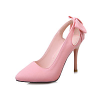 cheap Small Size Shoes-Women's Shoes Fleece Spring Summer Club Shoes Heels Stiletto Heel Pointed Toe Bowknot for Office & Career Dress Party & Evening Black