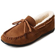 Women's Shoes Rubber Winter Comfort Boat Shoes Round Toe For Outdoor Burgundy Khaki Light Brown Pink Army Green