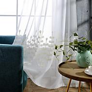 Propp Topp Dobbelt Plissert Blyant Plissert Window Treatment Moderne , Ensfarget Grafiske trykk Stue Bomull Materiale Gardiner Skygge